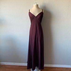 City Chic Burgundy Boho Chic Maxi Bohemian Dress
